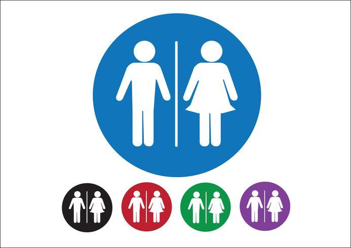 Piktogram Man kvinna tecken ikoner, toalett tecken eller toalett ikonen vektor