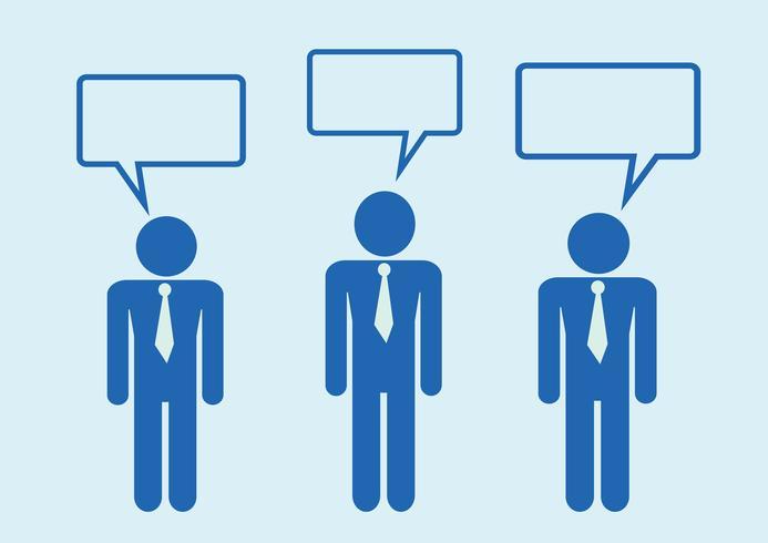 Man människor tänker prata konversationsikonen symbol tecken piktogram vektor