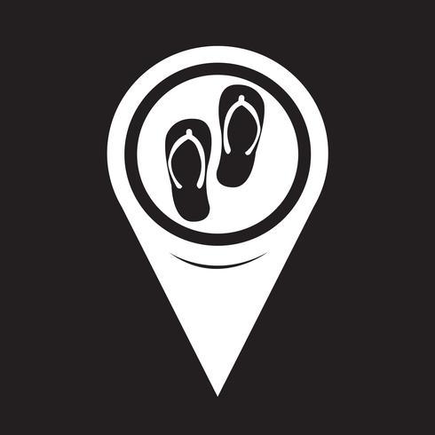 Kartpekare Slippers Icon vektor