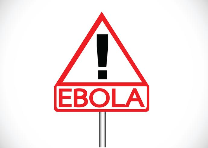 utropstecken för vägvarning varnar för konceptet för ebolavirus vektor