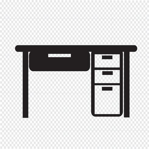 Tisch Office-Symbol vektor