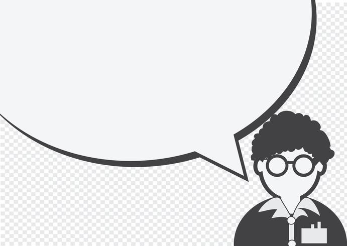 Människors ikon och folk som pratar pratbubblan vektor