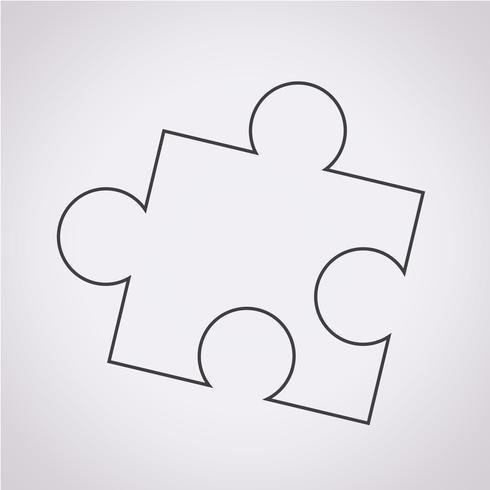 pussel ikon symbol tecken vektor