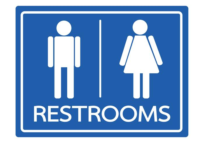 Toalett symbol man och kvinna ikon vektor