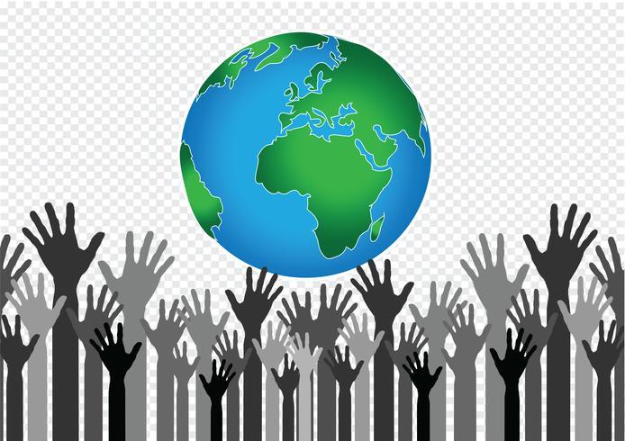 Hand Holding World och Globe Hands Hands vektor