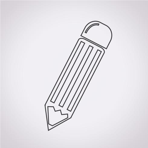 Pencil Icon Symbol Zeichen vektor