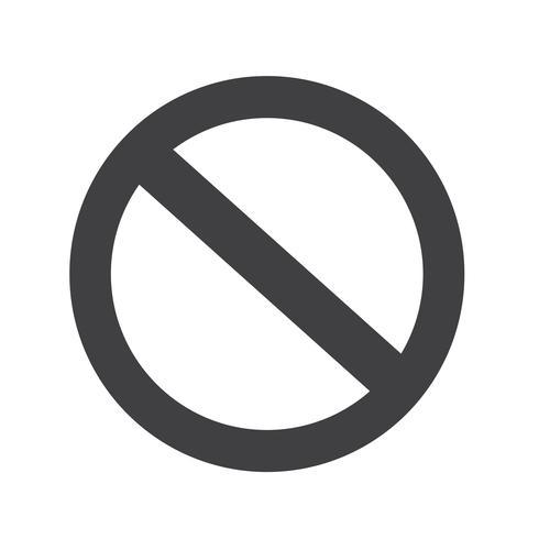 tomt förbud Symbolikon vektor