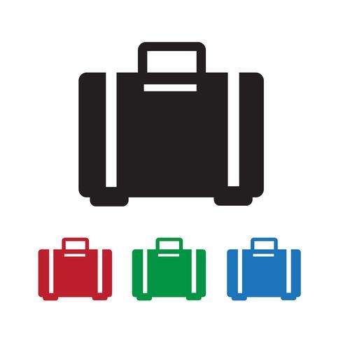 bagage ikon symbol tecken vektor