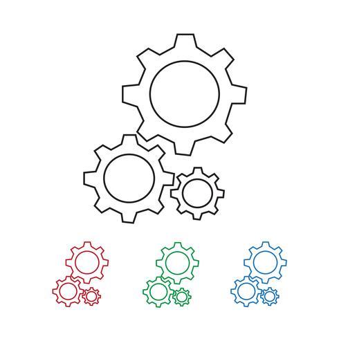 Växel ikon symbol tecken vektor