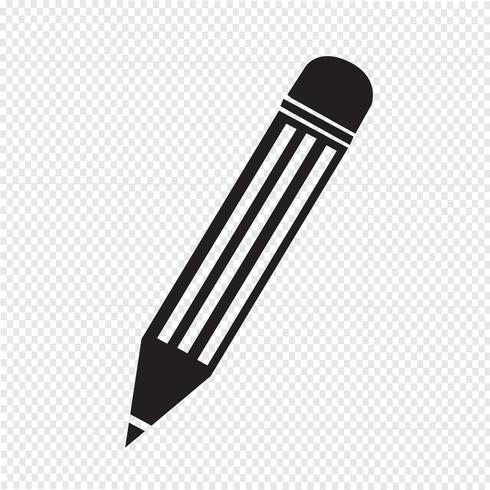 Pencil Icon Symbol Zeichen vektor