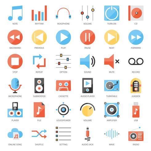 Musik-Benutzeroberfläche vektor
