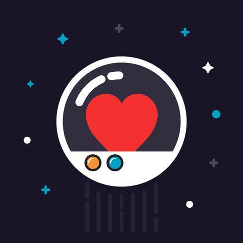 Herz in Kapsel vektor