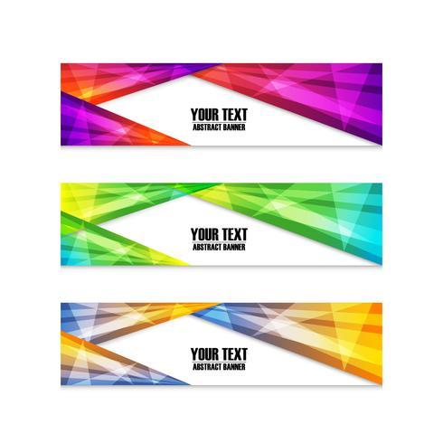 färgglada banneruppsättning vektor