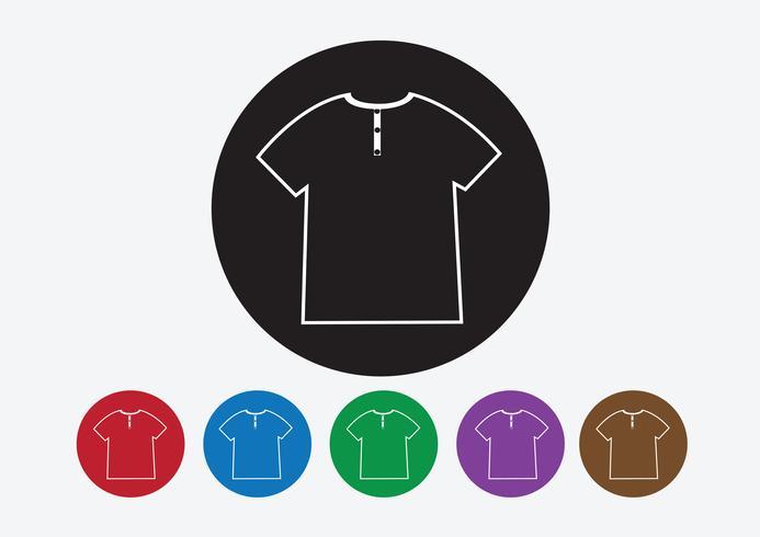 Klänningskjorta och T-shirt Ikon Klädselikoner vektor