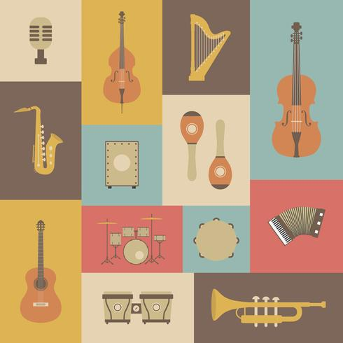 klassisches Musikinstrument vektor