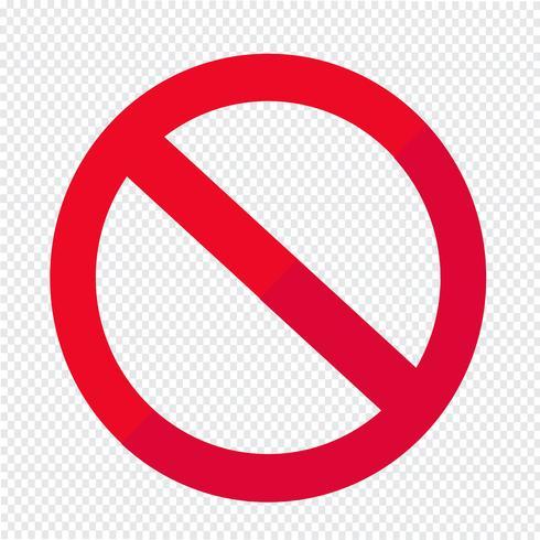 leere Verbot Symbol Symbol vektor