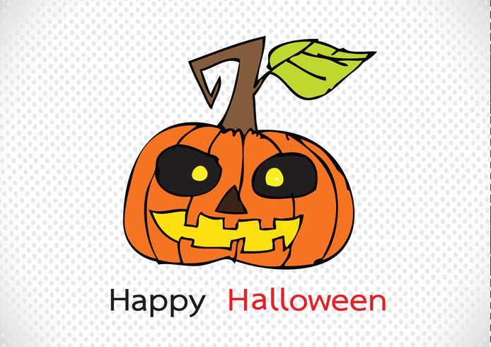 Halloween kort med pumpa vektor