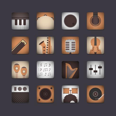 Ikone des Instruments 3d vektor