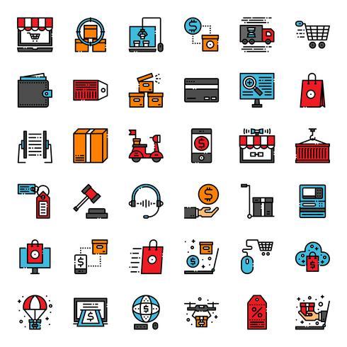 online shopping ikon vektor