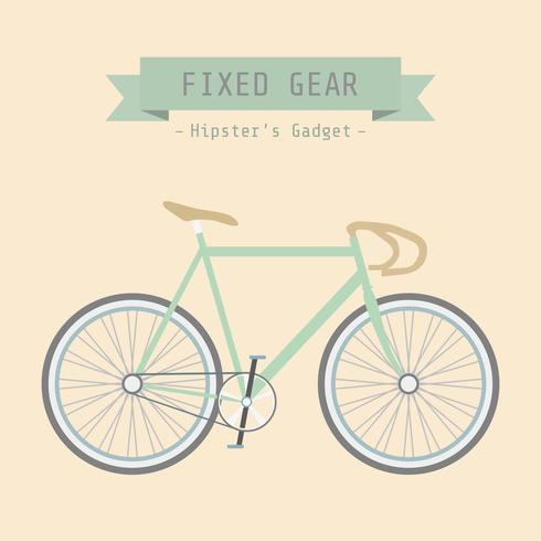 Retro Fixed Gear Fahrrad vektor
