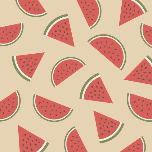 retro vattenmelon mönster vektor