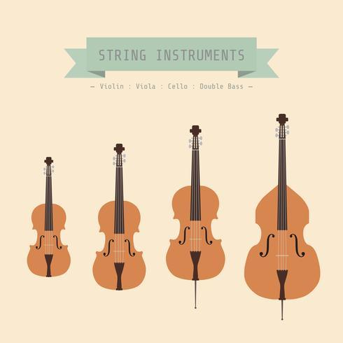Violine Familienhintergrund vektor