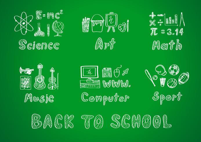 tillbaka till skolan vektor