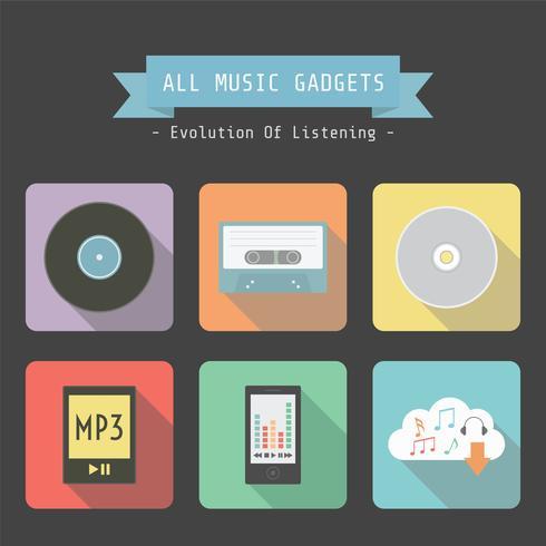 retro musik gadget vektor