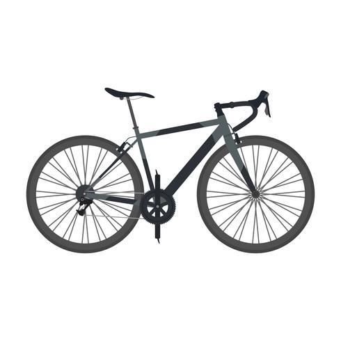 schwarzes Rennrad vektor
