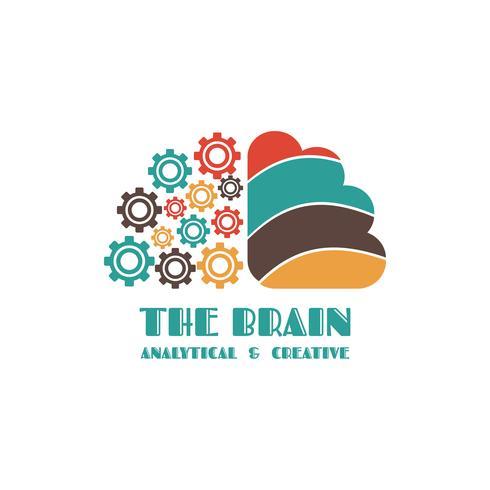 linke und rechte Gehirnhälfte vektor