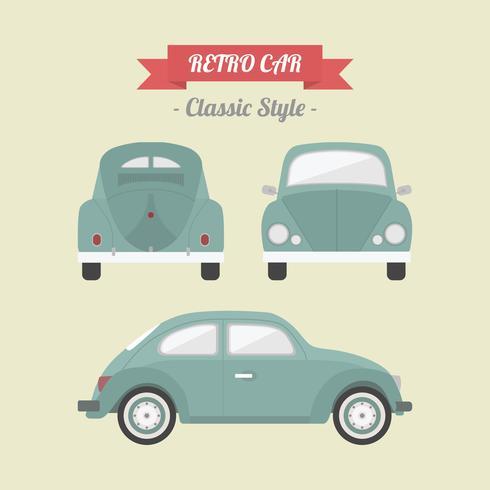 Retro klassisches Auto vektor