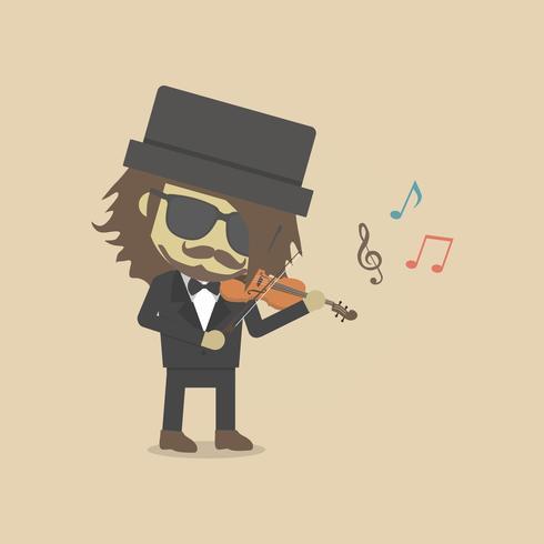 Mann Geige spielen vektor