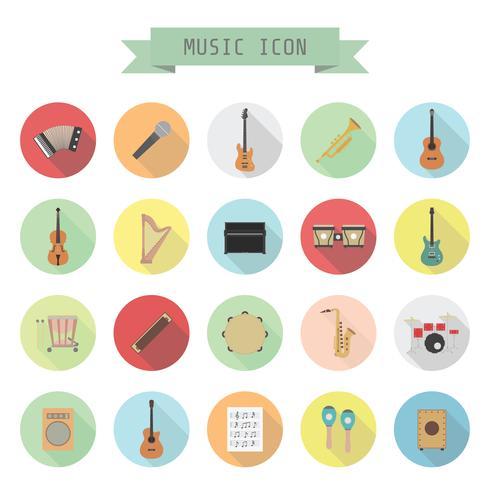 Retro-Musik-Symbol vektor