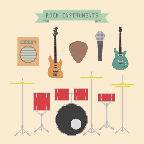 rock musikinstrument vektor
