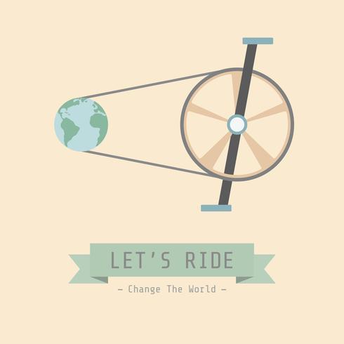 retro cykel affisch vektor