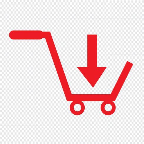 kaufen Sie Warenkorbikonensymbol Illustrationsdesign vektor