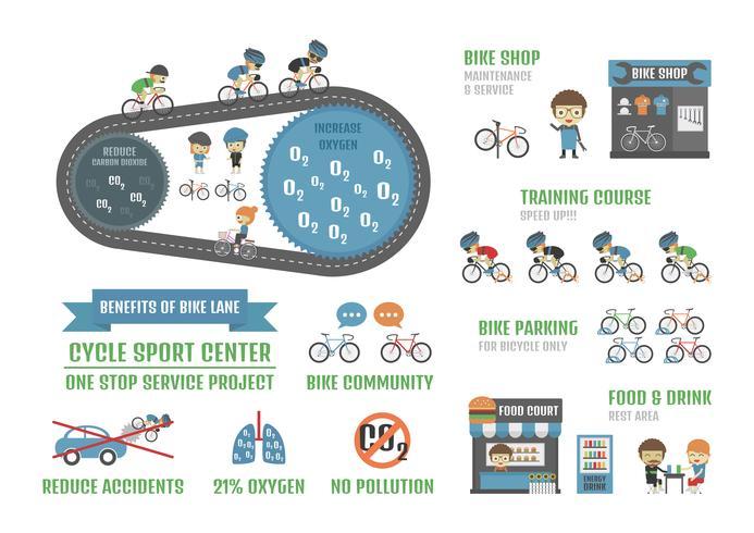 Fahrradsportzentrum vektor