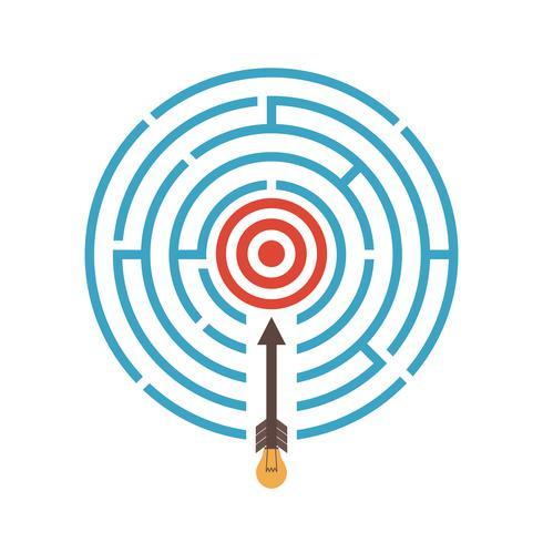 Ziel im Labyrinth vektor