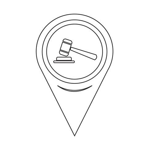 Kartpekaren gavelikon vektor