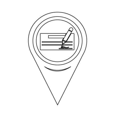 Ikon för kartpekarkontroll vektor