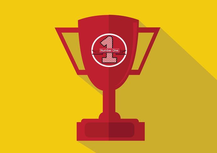 mästare cup ikon i illustration idé design vektor