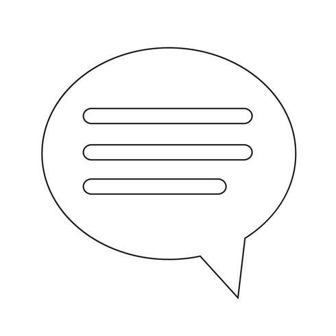 Spracheblasenikone Illustrationsdesign vektor