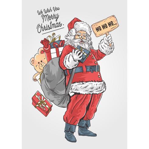 Weihnachtsmann Frohe Weihnachten vektor