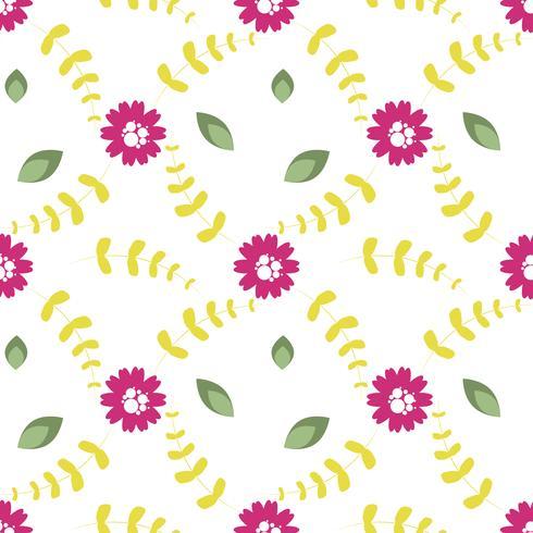 Vektormuster von Blumen, von Zweigen und von Blättern vektor