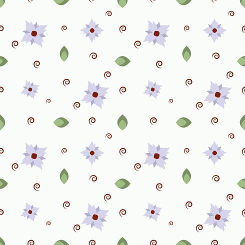 Vektormönster av blommor, kvistar och blad vektor