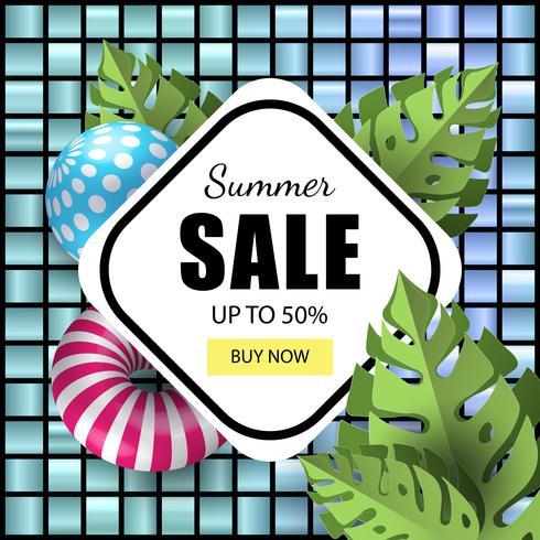 Sommer-Banner-Verkauf vektor