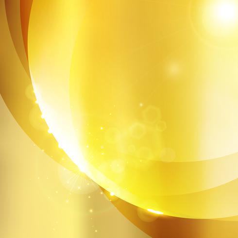 Glänzender Goldfarbluxushintergrund mit Scheinglanz. vektor