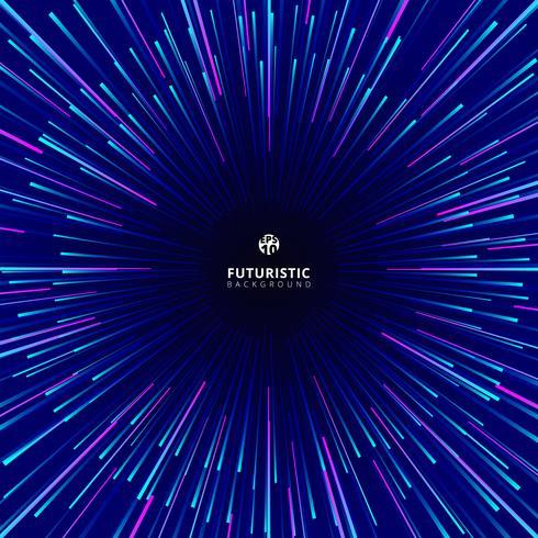 Abstrakt futuristisk geometrisk cirkulär geometrisk centrerad rörelsemönster för teknologi. vektor