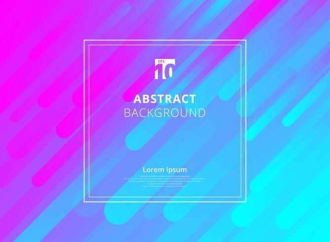 Abstrakt färgrik geometrisk dynamisk formbakgrund med vit ramutrymme för text. vektor