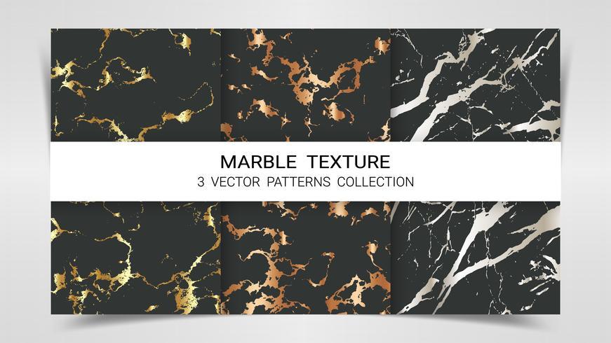 Marmorstruktur, premiumuppsättning av vektormönstersamling. vektor